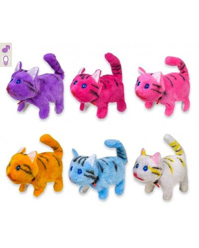 Мягкая игрушка PLM1905 кот, мяукает, ходит, микс цветов, в коробке 14*9*14см