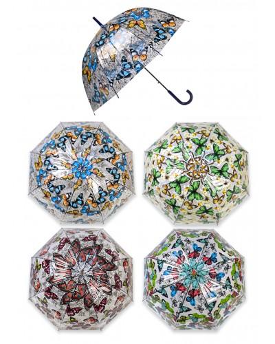 """Зонт """"Бабочки"""" CEL-407 4 вида,размер трости82см, диаметр78см"""