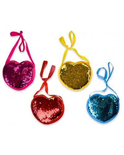 Кошелек CEL-CEL-351 Сердце, 4 цвета, на змейке, размер изд. 16*15см,12 шт в пакете 38*34см