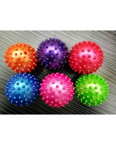 Мяч SH1202 с шипами, резиновый 10см 25гр