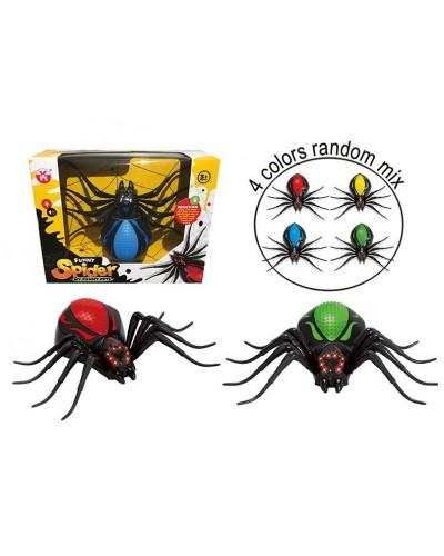 Животные YH1802 Паук, 4 цвета, батарейки, в коробке 30*10*23,5см
