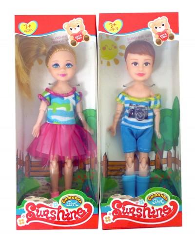 Кукла маленькая KQ081A 4 вида, шарнирные ручки и ножки, в кор. 18*4*7см