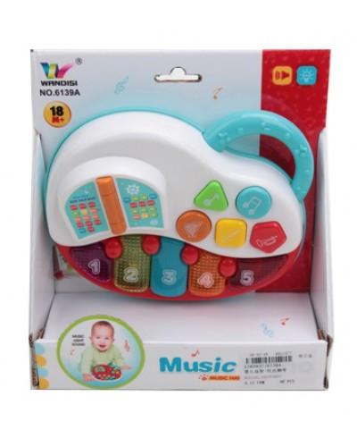Муз. орган 6139A бат., музыкальная, свет, звук, мелодия, в коробке 19*7*21см