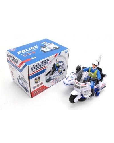 Муз. мотоцикл 3088B батар., свет-звук, в коробке 21*16*15см