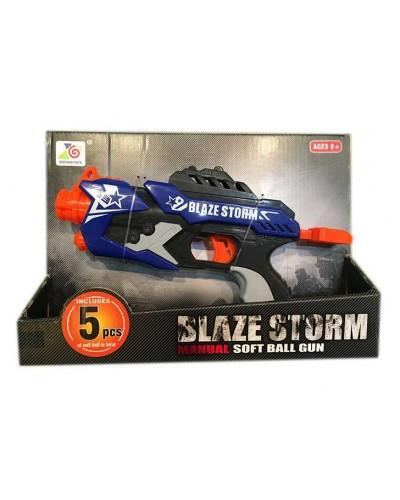 Пистолет ZC7112 стреляет поролон. снарядами, 5 снарядов в комплекте, в кор. 32*22*6см