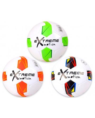 Мяч футбол FB190336 №5, PVC 340 грамм, 3 цвета mix