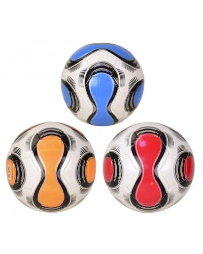 Мяч футбол B24864 PVC 3 цвета, 350 гр, размер №5