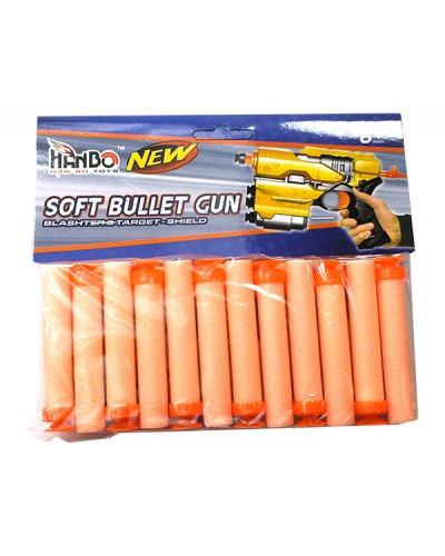 Поролон. снаряды 118A-11 24штуки, в пакете 18,5см