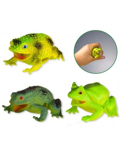 Антистресс AN1902 лизун в лягушке, 3 вида, 7см 12 шт в дисплей боксе /цена за шт/