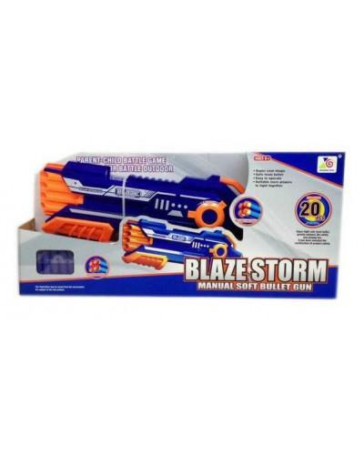 Бластер 7037 стреляет поролон. снарядами, 20 снарядов в комплекте, в кор 49*15*7,5 см