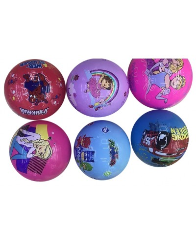 """Мяч резиновый B27295 """"Мультгерои"""" ассорти, 9"""", 80грамм"""