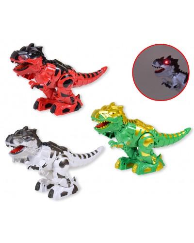 Животные 888-2 Динозавр, батар, звук, свет, рычит, 3 цвета, в коробке 28*9,5*19см