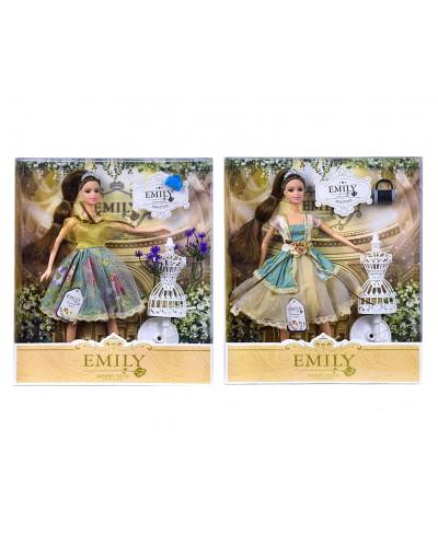 """Кукла """"Emily"""" QJ078A/QJ078C  2 вида, с манекеном и аксессуарами, в кор. 33*28*6см"""