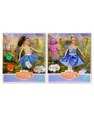 "Кукла ""Фея""""Emily"" QJ080B/QJ080D  2 вида, с аксессуарами, в кор. 33*28*6см"
