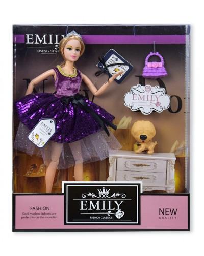 "Кукла ""Emily"" QJ081C с питомцем и сумочкой, в кор. 33*28*6см"