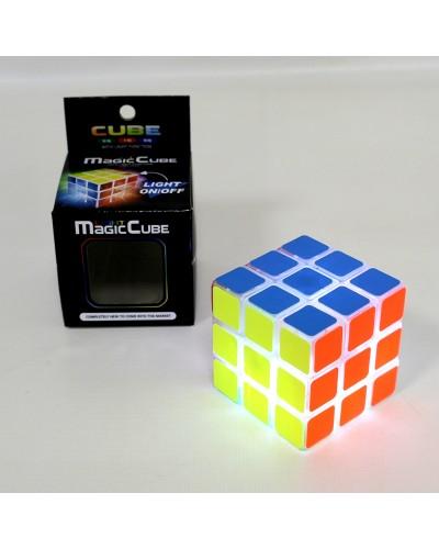 Кубик логика 8112 свет, 3*3, в коробке 6*6*6см