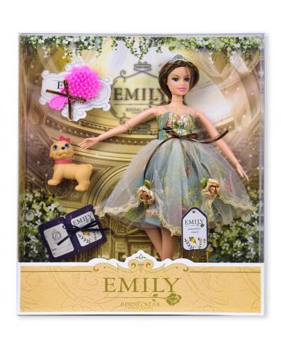 """Кукла """"Emily""""  QJ078B с питомцем и расческой, в кор. 33*28*6см"""
