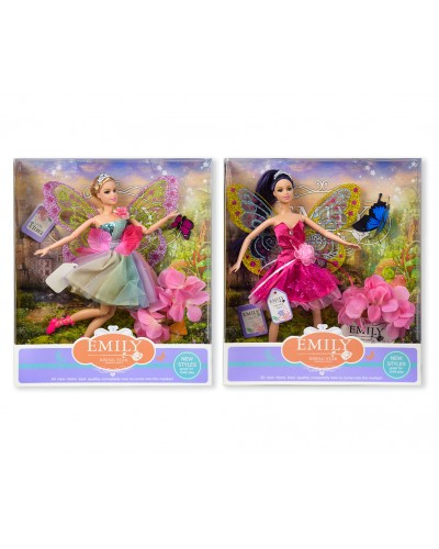 """Кукла """"Фея"""" """"Emily""""QJ080A/QJ080C  2 вида, с аксессуарами, в кор. 33*28*6см"""