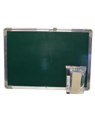 Доска 2-х стор CLG17017 рисов. /магнит. маркер, губка, в пакете 50*35см