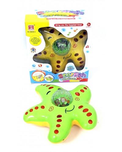 Музыкальная игрушка SM456-3 морская звезда, 2 цвета, свет, звук, в коробке