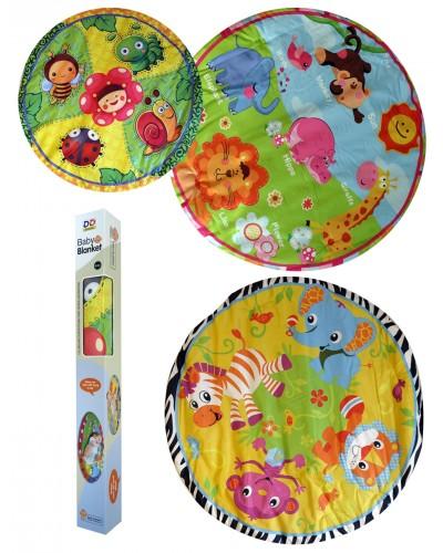 Коврик для малышей ZD368-6/10/11/13 круглый, 4 вида, в коробке 83*9*9см