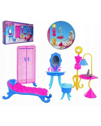 "Мебель ""Gloria"" 2909 шкаф, трюмо, стульчик, софа, манекен, в кор. 39*19*7,5 см"
