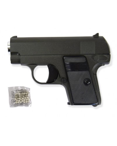 Пистолет метал. пластик G.9 с пульками в коробке 12,5*9*2см