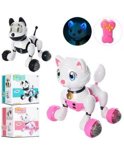 Робот р/у MG013/14 робот собака, кошка с управлением голосом и руками, пультом управления