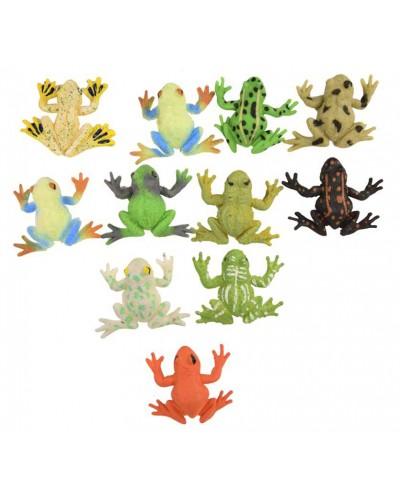 Животные резиновые W6328-271-276 лягушки, микс видов, 5*7 см, 54шт в дисп. боксе 22*20*7см
