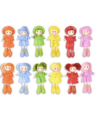 Кукла мягкая CEL-213 12 видов, в пальто и шляпке, кукла - 32см, пакет 36*18 см