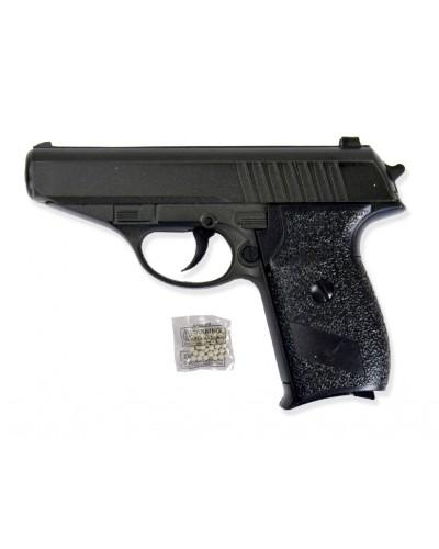 Пистолет метал. пластик G.3 с пульками в коробке 15*10*2,5см