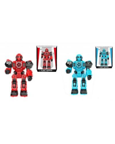 Робот батар 601A/B  2 цвета, свет, звук, в коробке 23*12,5*33см