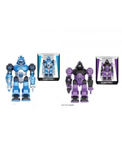 Робот батар. 606/608 2 цвета, свет, звук, в коробке 17*8*24см