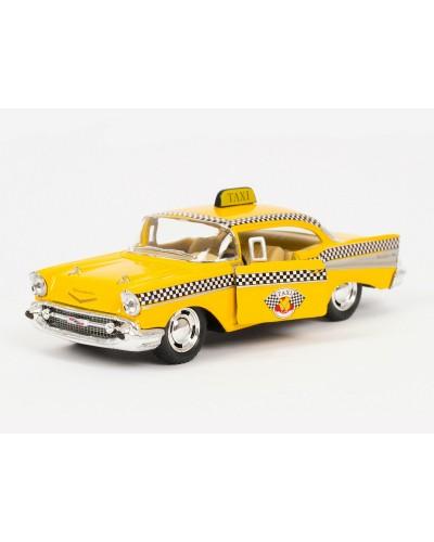 "Машина металл ""KINSMART"" KT5360W ""Такси""Chevrolet Bel Air, в кор.16*8,5*7,5cm"