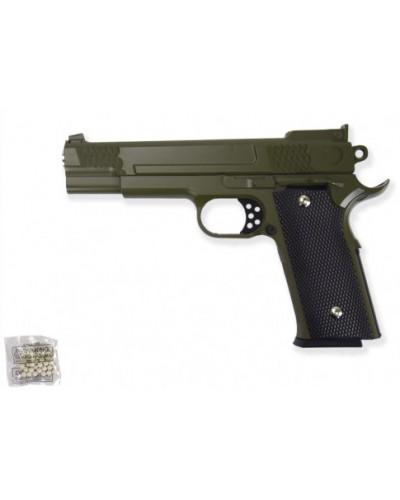 Пистолет метал. пластик G.20G с пульками в коробке 20*15*3см