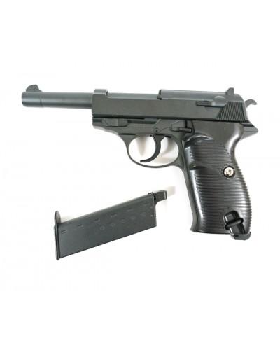 Пистолет метал.пластик G.21 с пульками в коробке 22*14*3,7см
