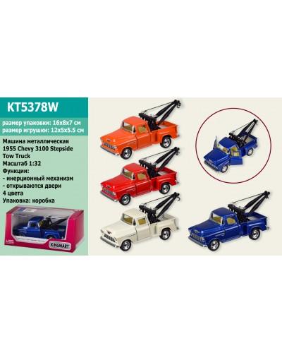 "Машина металл ""KINSMART"" KT5378W ""1955 Chevy 3100 Stepside Tow Truck "", в коробке 16*8*7см"
