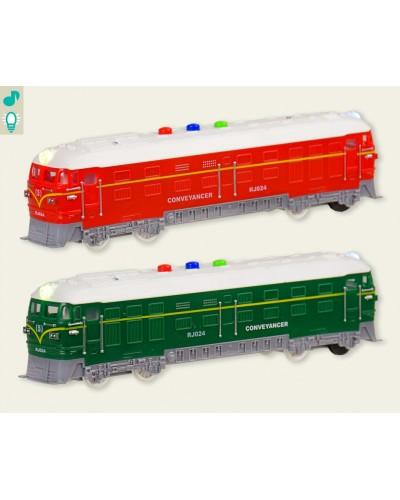 Поезд батар. RJ024 2 цвета, свет, звук, в кор. 26,2*7,5*10,5см