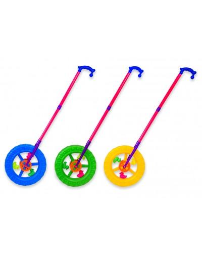 Каталочка YT3235 колесо, 3 вида, в пакете 29*33 см