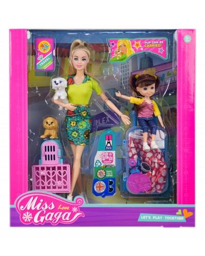 """Кукла типа """"Барби"""" 51807 с куколкой, собакой и аксессуарами, в кор. 35*,32,5*8 см"""
