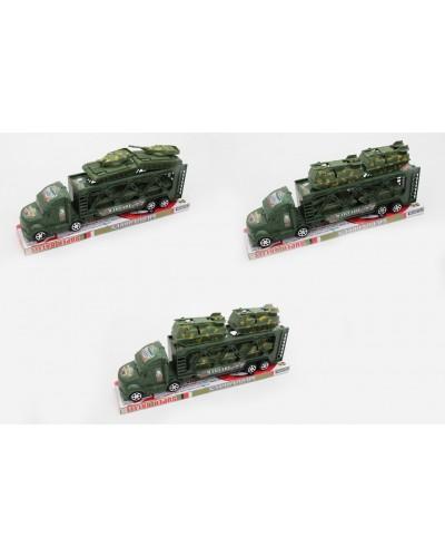 Трейлер  инерц. JL6689-3/4/5  военная техника, 3 вида, под слюдой 32*7*13см