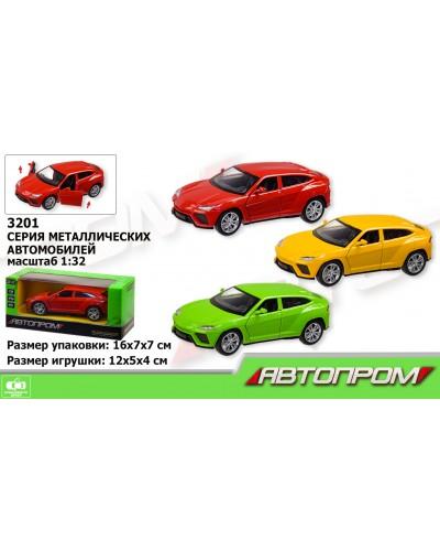 "Машина металл 3201 ""АВТОПРОМ"",1:32, 3 цвета, откр.двери, в кор.16*7*7см"