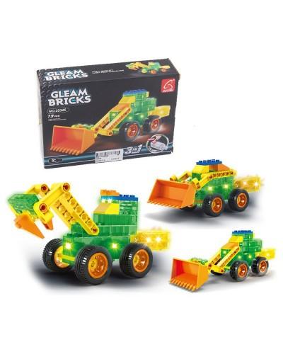 Конструктор 25345 Gleam Bricks, светящ, 73дет,   в кор 18*13,5*4,5 см