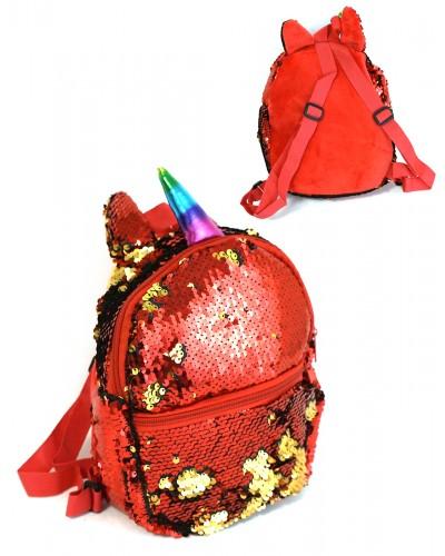 Рюкзак пайетки BG7027 микс цветов, 21*20 см в пакете