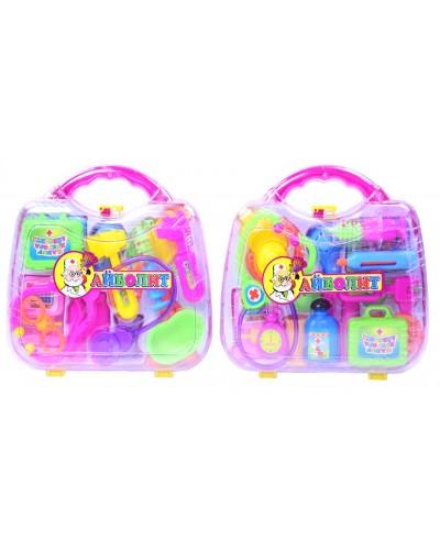 """Доктор """"Айболит"""" 3A-055AB 2 вида, цвет микс, 15 предметов, в чемоданчике 20*18см"""