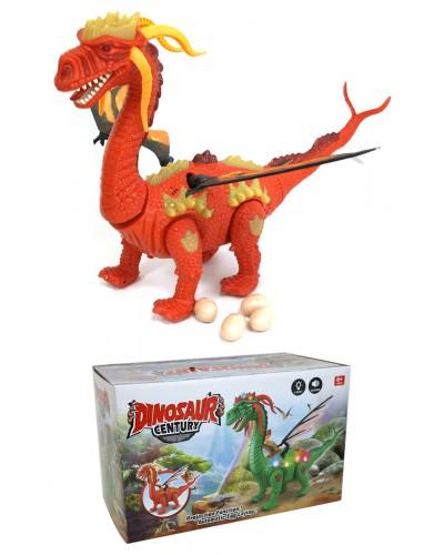 Интерактивное животное 906-2034 динозавр, батар., свет, звук, в коробке 26*14*16см