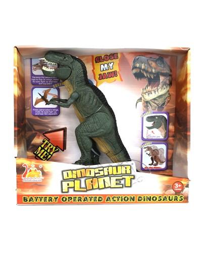 Интерактивное животное RS6152 динозавр. муз-свет, в коробке 31,9*9,2*28,8см