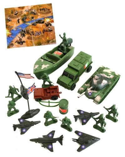 Военный набор C10.8  техника, солдаты, в пакете 21*5*34см
