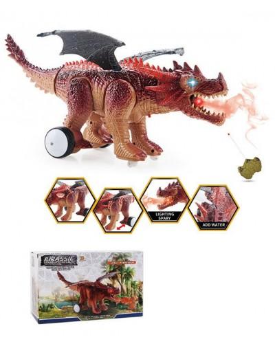 Животное на р/у 0838 Дракон, пульт, свет, звук, функ. пар, в коробке