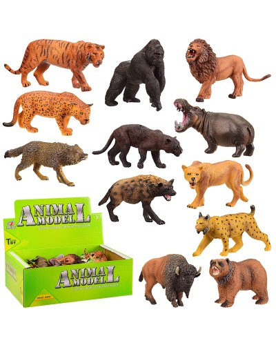 Животные Q9899-216/276  2 вида, дикие, в боксе 30*19*10см /цена за бокс/